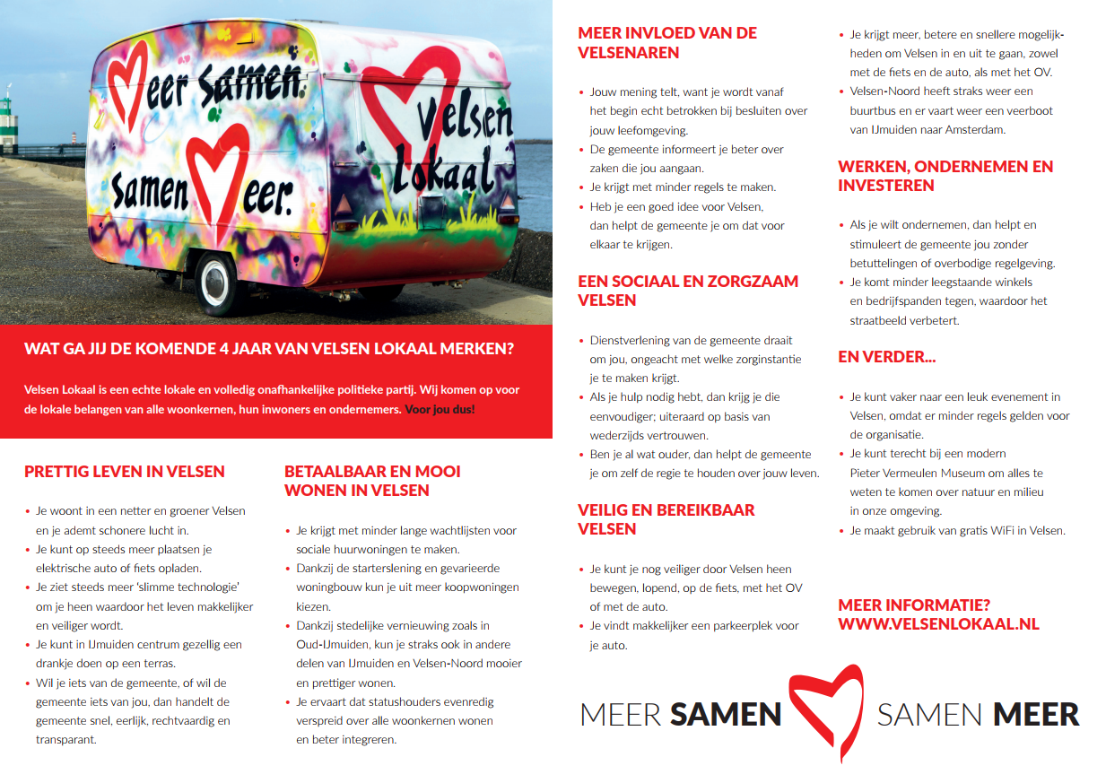 Speerpunten Verkiezingsprogramma 2018 2022 Velsen Lokaal